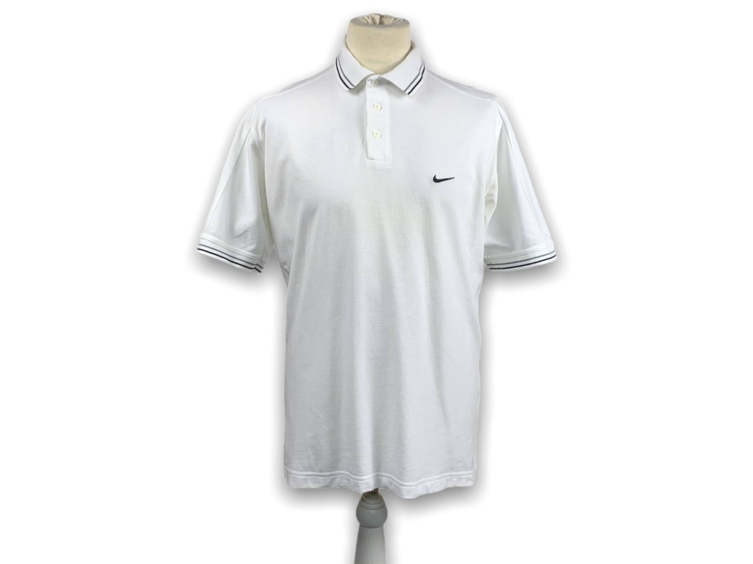 Vintage Nike galléros póló (L)