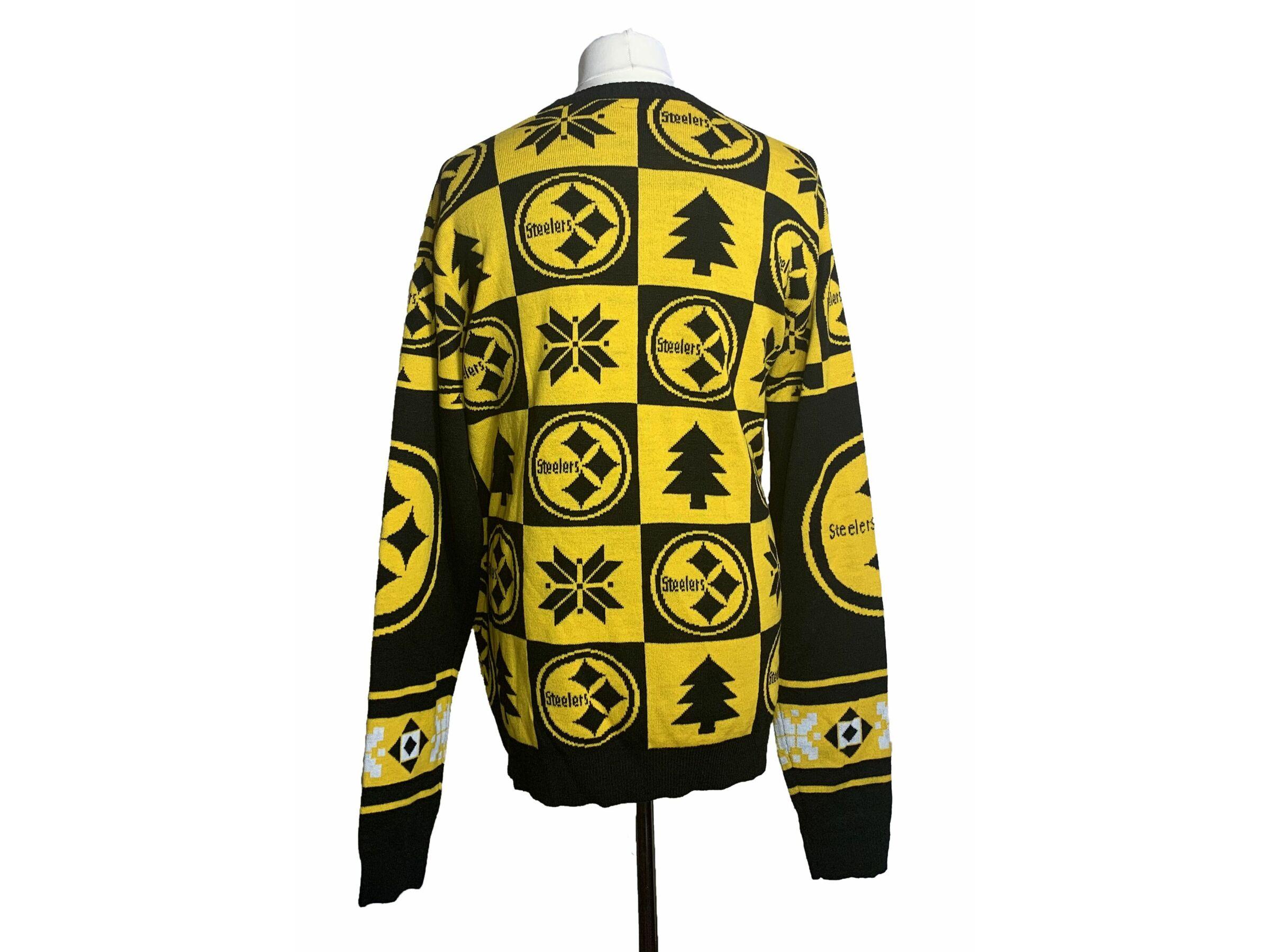 NFL team apparel Pittsburgh Steelers kötött pulóver (XXL)